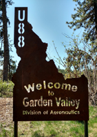 Garden Valley Airport Sign