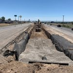 Image of median work on Interstate 84