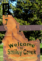 Smiley Creek Airport Sign