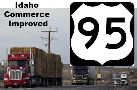 Commerce improved as restrictions reduced on US-95, Idaho's main north-south highway