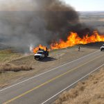 BLM crews conduct a prescribed burn along ID-51