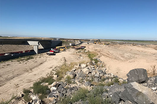 Image of construction on the Salt Lake Interchange project