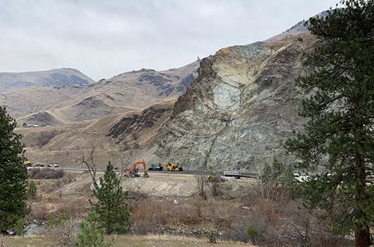 Repairs to US-95 slide south of Riggins complete