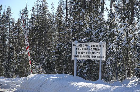 ID-21 from Grandjean to Banner Summit to close tonight due to avalanche risk