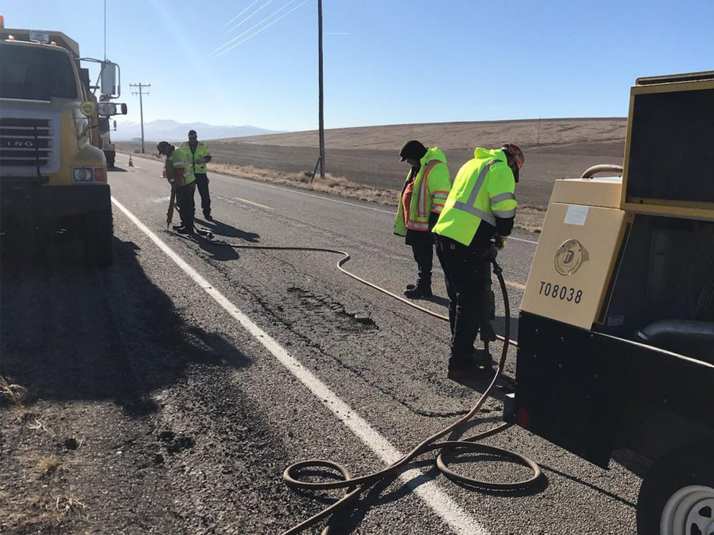ITD crews make emergency repairs to ID-45 as large number of potholes form