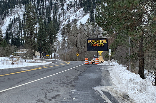 US-12 east of Kooskia anticipated to reopen tomorrow afternoon under reduced avalanche risk