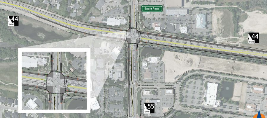 conventional intersection design for eagle road and idaho highway 44