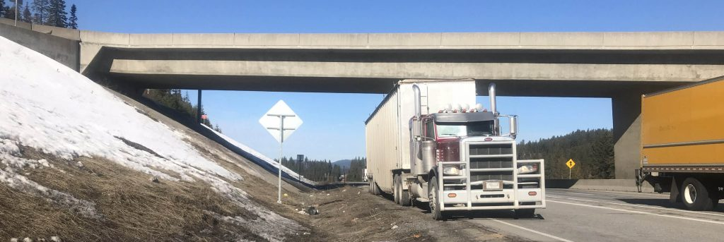 """Trucker Matt"" helps keep I-90 clean as spring reveals trash covered by winter snows"