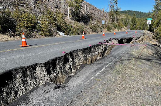 Slide on Idaho Highway 11 near Headquarters to disrupt traffic over Memorial Day Weekend