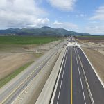 Railroad overpass for northbound traffic on ID-41 nearly complete
