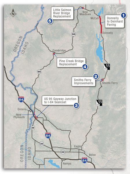Summer 2021 construction map