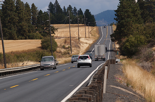 Passing lane added to US-95 south of Potlatch this summer