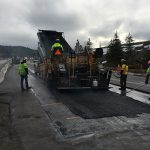 Crews put down temporary pavement